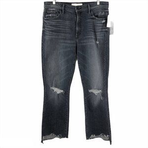Mother Superior Jeans The Inside Crop Step Chew